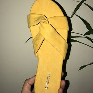 Never Worn Yellow Sandals